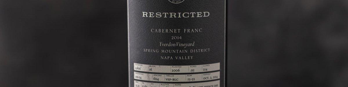 Bottle shot of Restricted Cabernet Franc